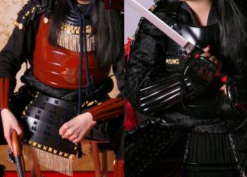 甲冑体験studioかすみの鎧(黒or赤黒)画像